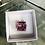Thumbnail: Square Pink Stone Silver Ring