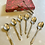 Thumbnail: Saint Chrome Tea Spoons & Sugar Tongs