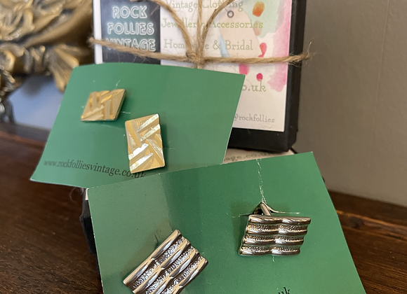 Silver & Gold Cuff Links