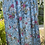 1940s Blue and Pink Floral Day Dress Fabric View