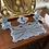 Thumbnail: 1930s Blue Glass Dressing Table Set