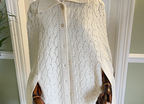 Cream Knitted Cape from USA