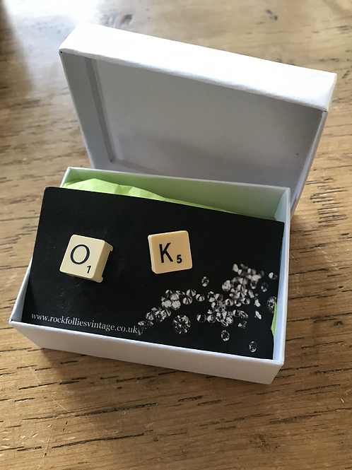 Scrabble Earrings