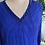 Electric Blue Silk Chiffon Beaded Dress Front View