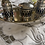 Thumbnail: Silver Plated Filigree Cruet Set on Tray