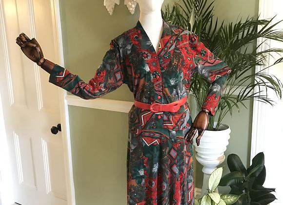 Jersey Shirt Dress with Belt