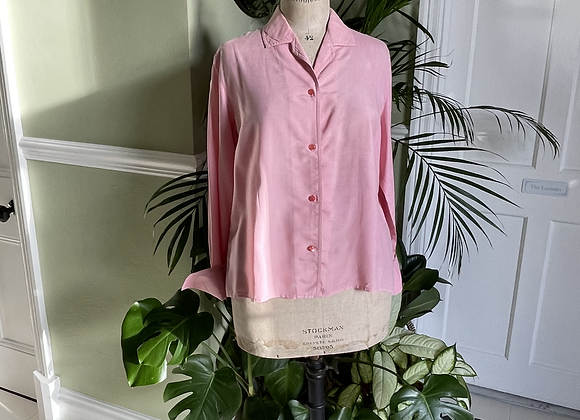 Raw Silk Blouse with double cuffs