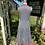 1970s Black, White Red  Gingham Dress Back View