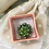 Thumbnail: Adjustable Green Flower Stone Ring