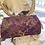 Purple Silk Brocade Fabric Clutch with Gold Tone Frame Front View