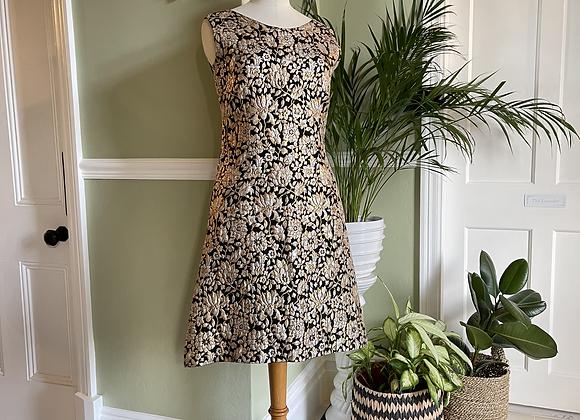 1960s A Line Brocade Dress