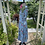 1940s Blue and Pink Floral Day Dress Side View
