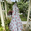 1950s Grey and Pink Fit and Flare Dress Side View