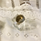 Thumbnail: Dimpled Wide Gold Band with Diamanté