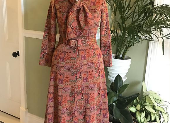 1970s Lurex Maxi Dress