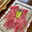 1950s Sheer Coral Nylon Gloves with Ruched Wrist Detail