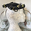 1940s Wired Hat Decorated with Grape Vines Side  View