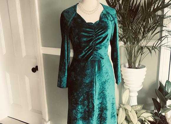 Panne Velvet Sweetheart Wiggle Dress