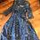 1950s Blue Cotton Print Dress By Samuel Sherman Front View