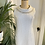 1960s White and Lurex Shift Gown Front View