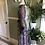 1970s Paisley print Cotton mix Maxi Dress By Kati Side View