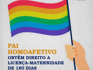 Pai homoafetivo obtém direito a licença-maternidade de 180 dias