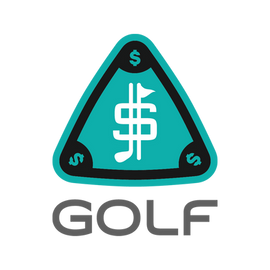 $$$ Logo Gray Green with Gray GOLF Text