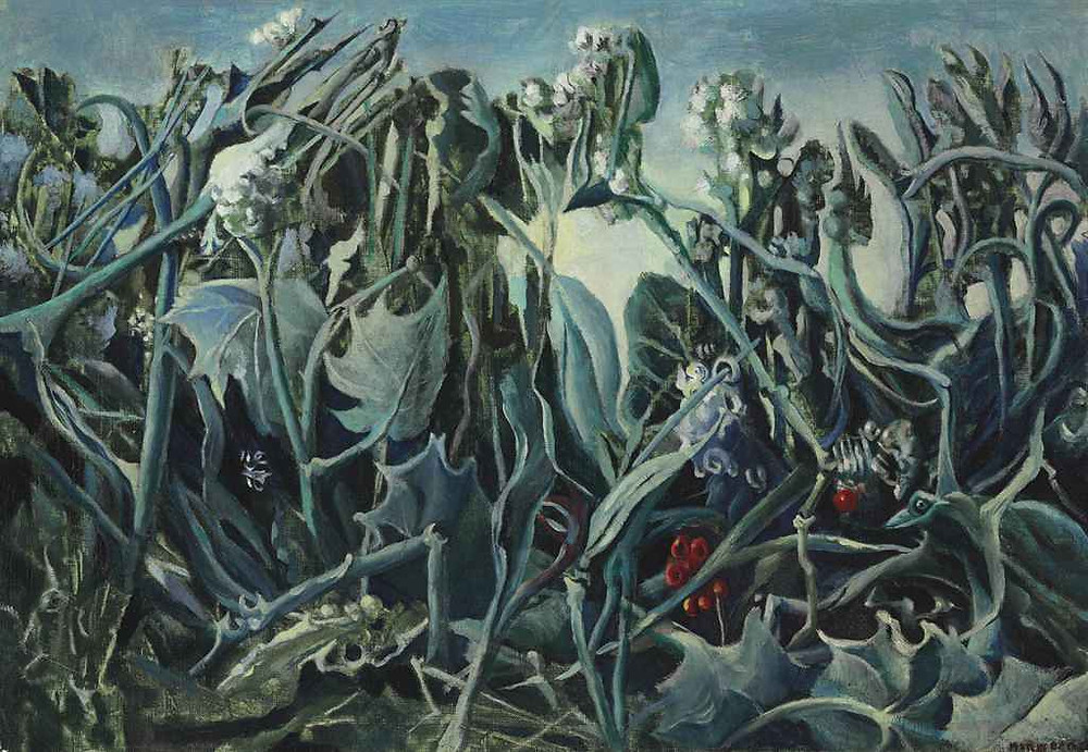 A painting by Max Ernst that loos very biological