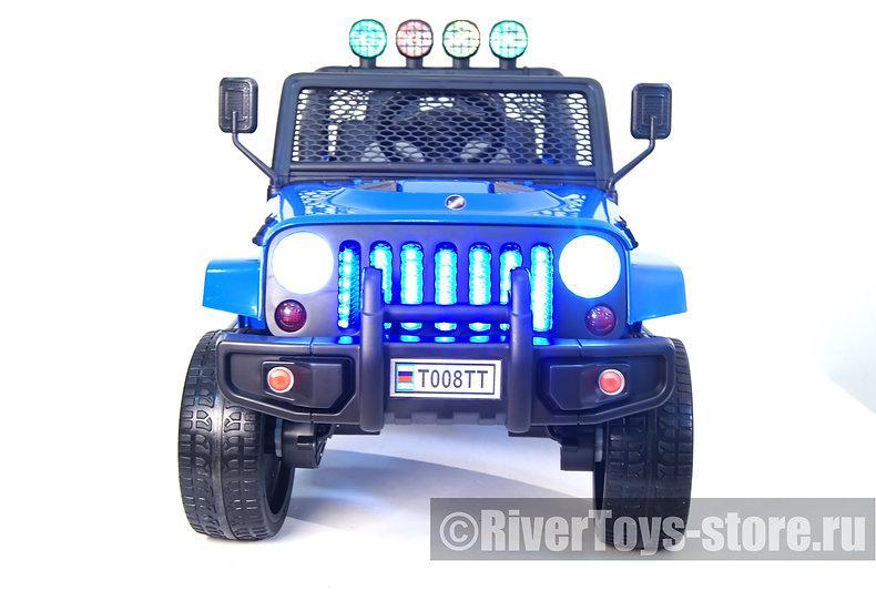 Электромобиль детский Jeep T008TT синий