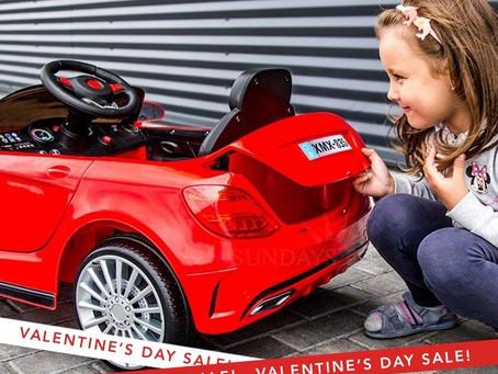 День святого Валентина! Подарите детям радость, электромобиль на пульте управления, почему нет? :)