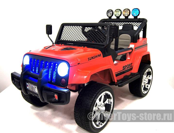 Электромобиль детский Jeep T008TT красный