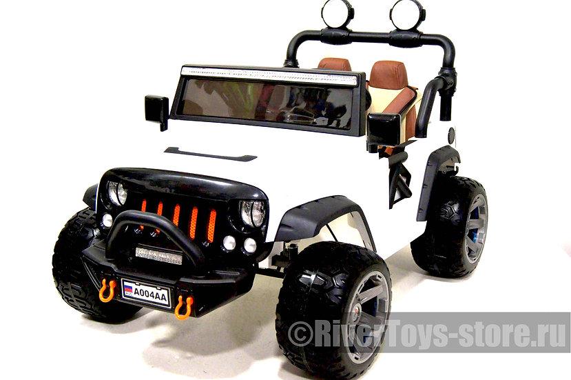 Электромобиль детский Jeep A004AA белый
