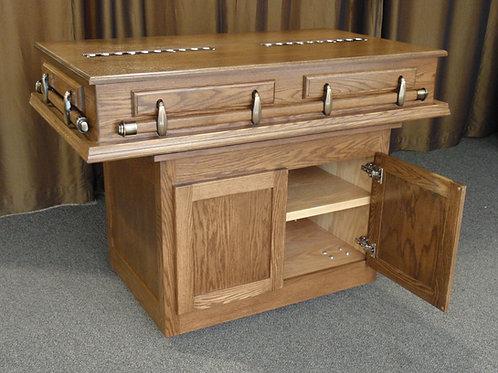 Bier w/ storage for Funeral Caddy
