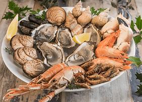 Traiteur fruits de mer repas assis Marseille