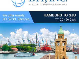 Imports from Hamburg, DE to San Juan, PR