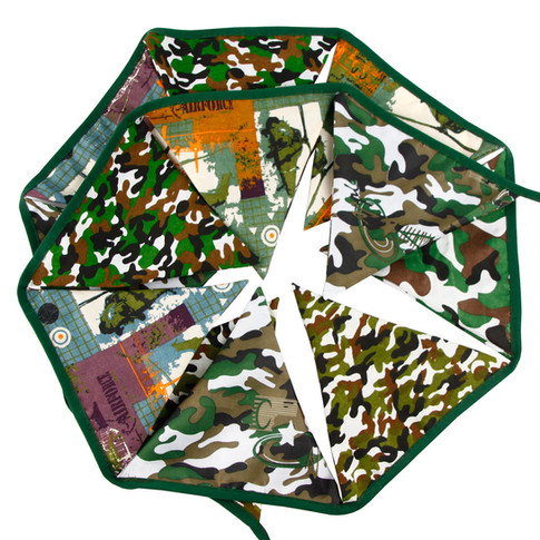 Camouflage Fabric Bunting