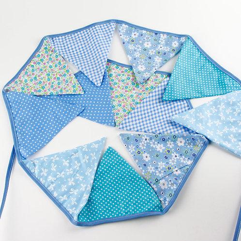 100 x Fabric Bunting - Baby Blue