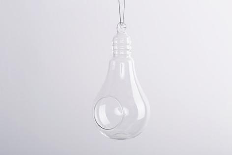 Light Bulb Shape Glass Candle Holder