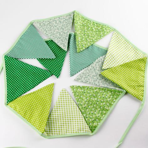 Green Fabric Bunting