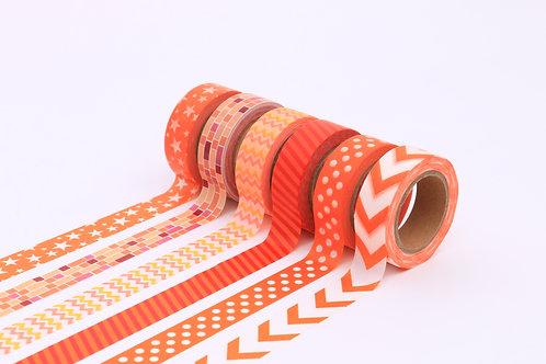 50 Sets of Washi Tapes - Orange