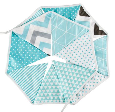 Tiffany Blue Fabric Bunting