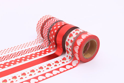 50 Sets of Washi Tapes - Red