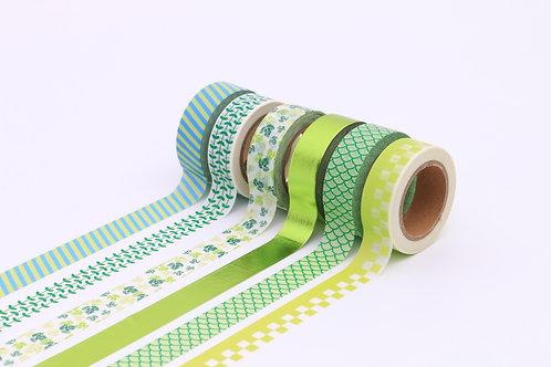 50 Sets of Washi Tapes - Green