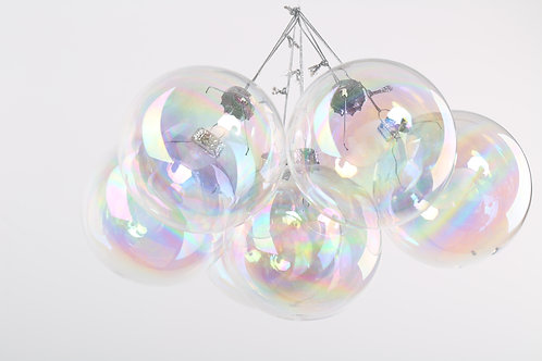 16 Boxes of 6 x 8cm Iridescent Glass Christmas Baubles