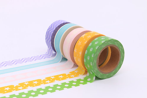 50 Sets of Washi Tapes - Pastel