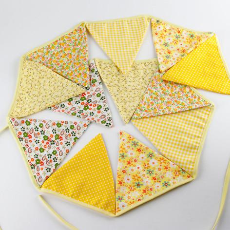Yellow Fabric Bunting