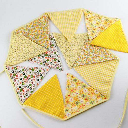 100 x Fabric Bunting - Yellow