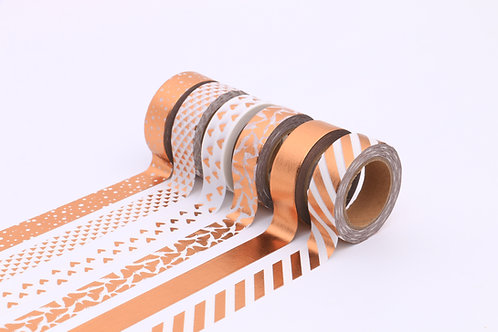 50 Sets of Washi Tapes - Metallic Copper