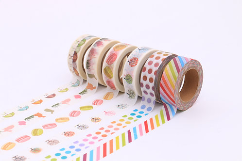 50 Sets of Washi Tapes - Colourful
