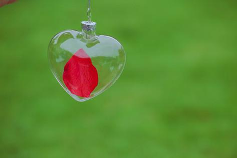 Heart Shape Clear Glass Christmas Ornament